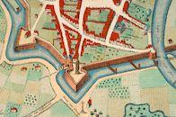 Detail uit het stadszicht van Kortrijk 1560