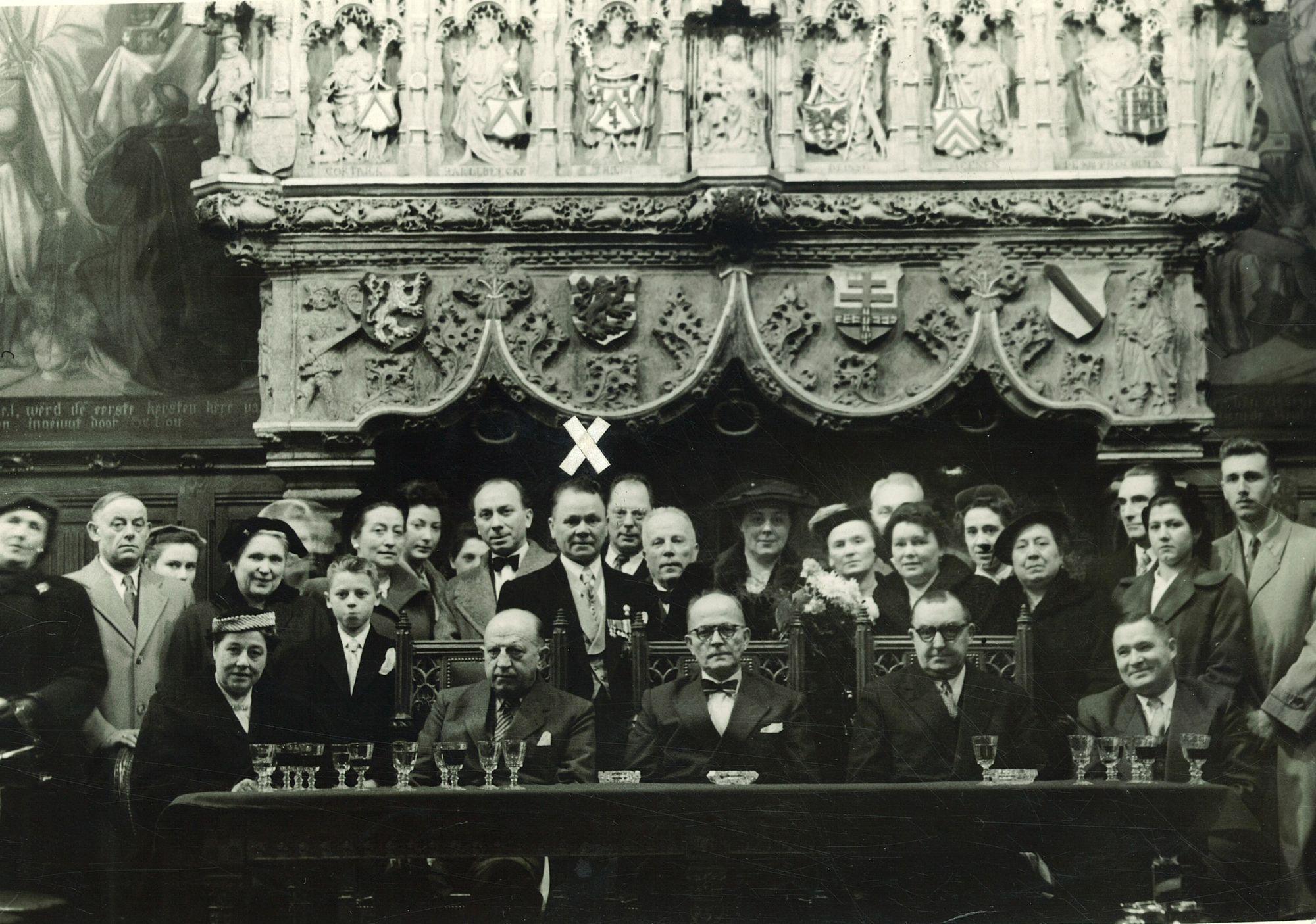 Huldiging Robert Vantieghem in historische schepenzaal