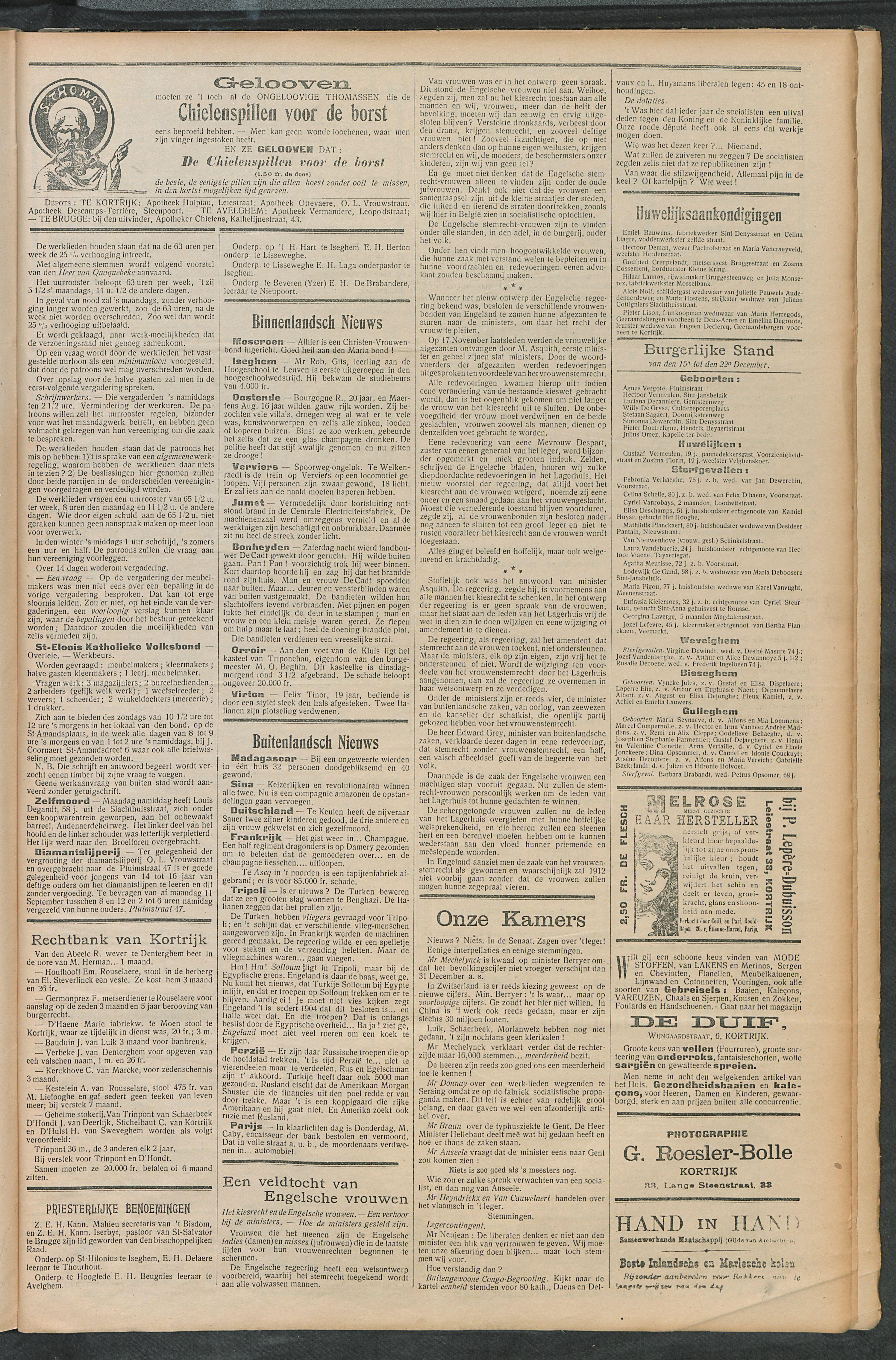 Het Kortrijksche Volk 1911-12-24 p3