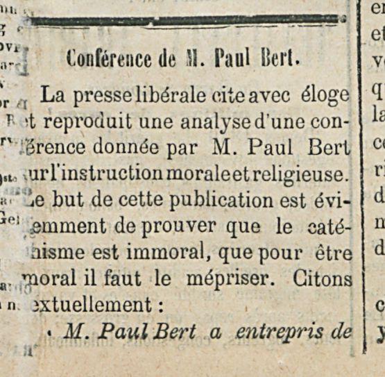 Confernce de N.paul Bert