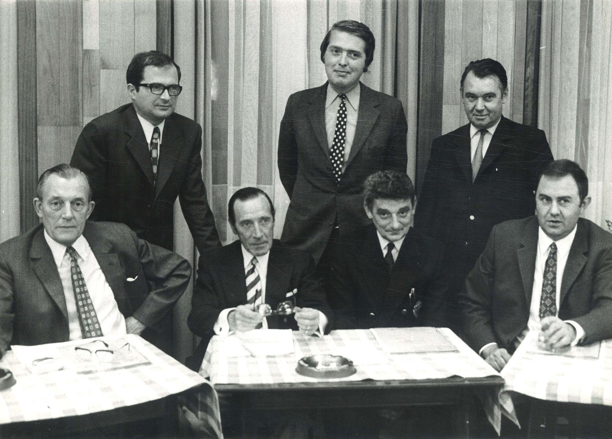 Bestuur centrumbraderie Kortrijk 1973