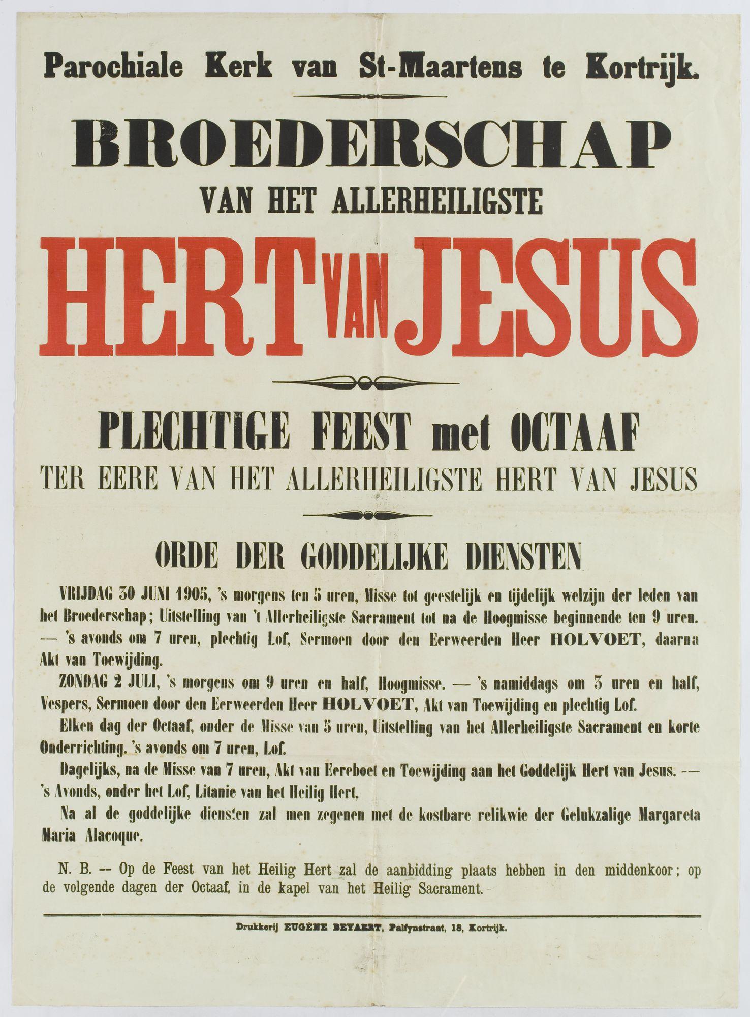 Plechtigheden Sint Maaartenskerk 1905