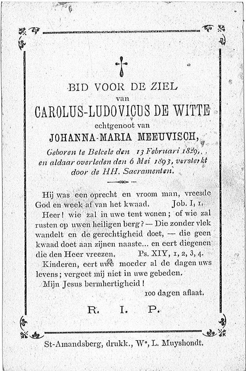 Carolus-Ludovicus De Witte