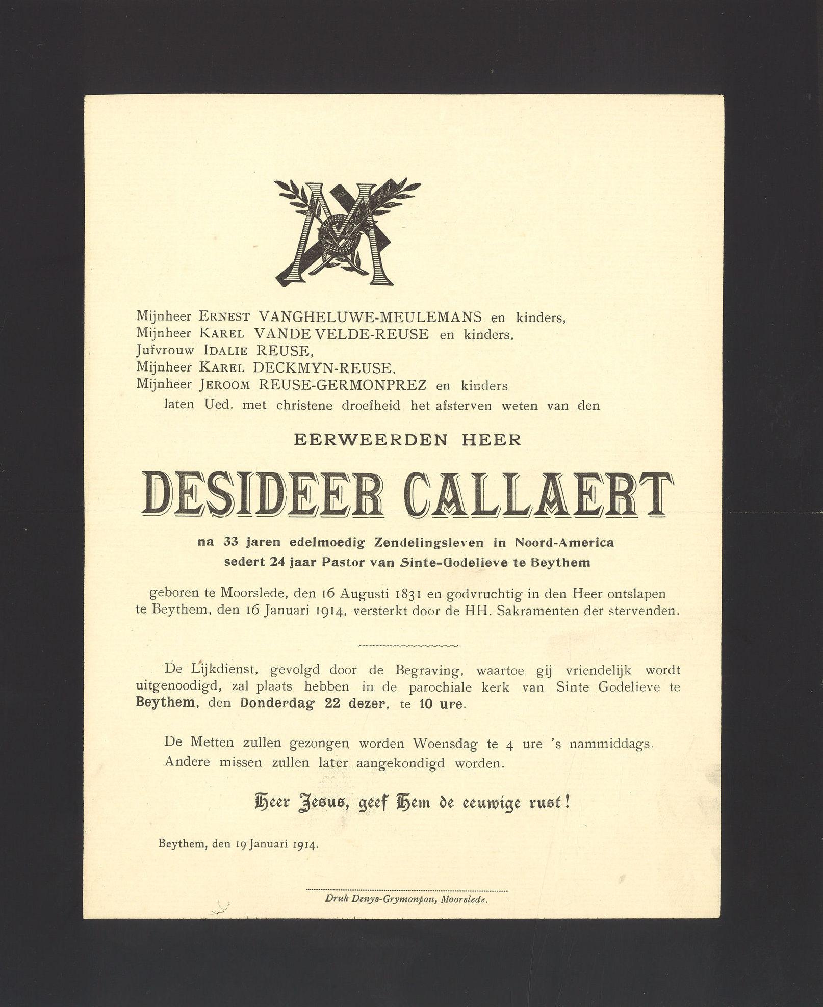 Desideer Callaert
