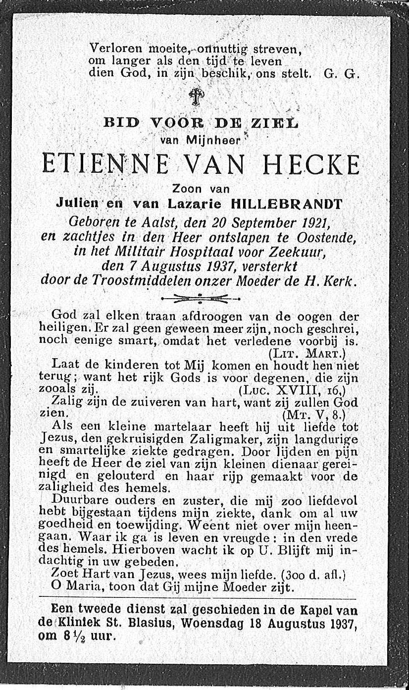 Etienne Van Eeckhaute.