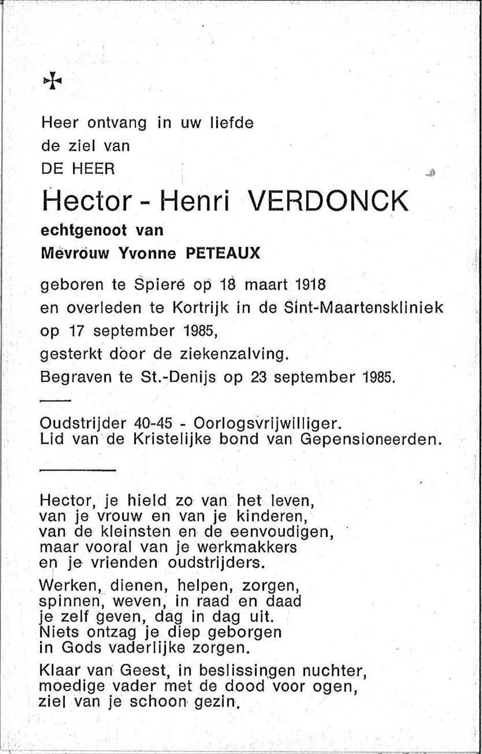 Verdonck Hector-Henri