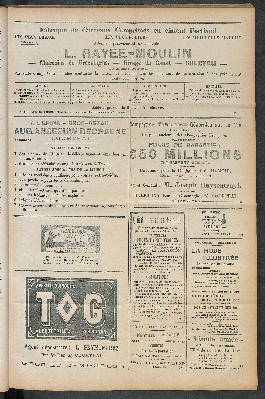 L'echo De Courtrai 1910-07-21 p3
