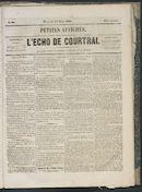 L'echo De Courtrai 1863-03-25