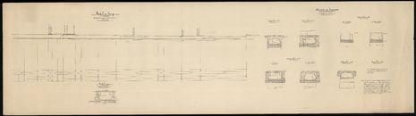 Bouwplannen van de Klakkaarsbeek te Kortrijk, i.v.m. verbeteringswerken, 1911