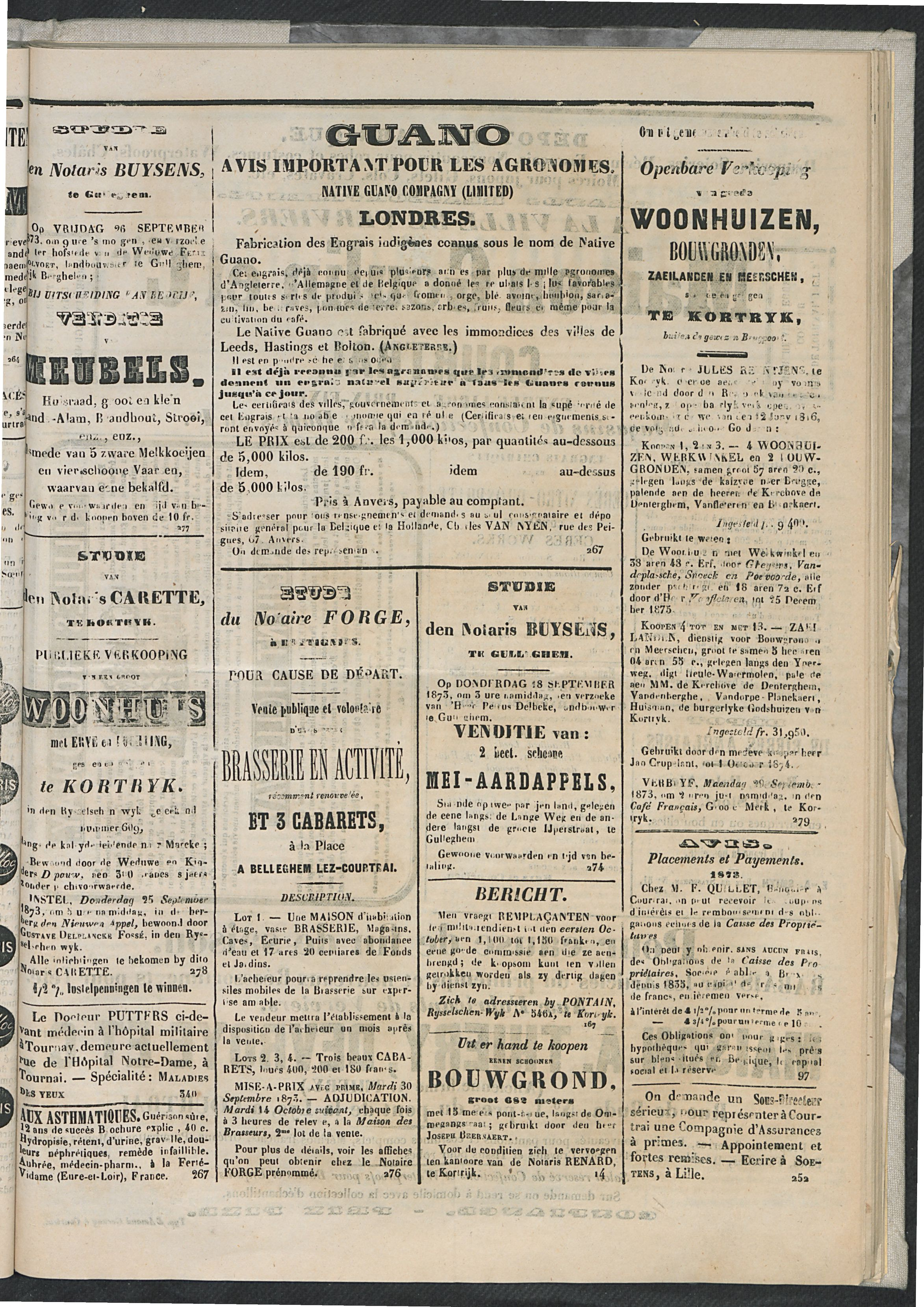 L'echo De Courtrai 1873-09-18 p3
