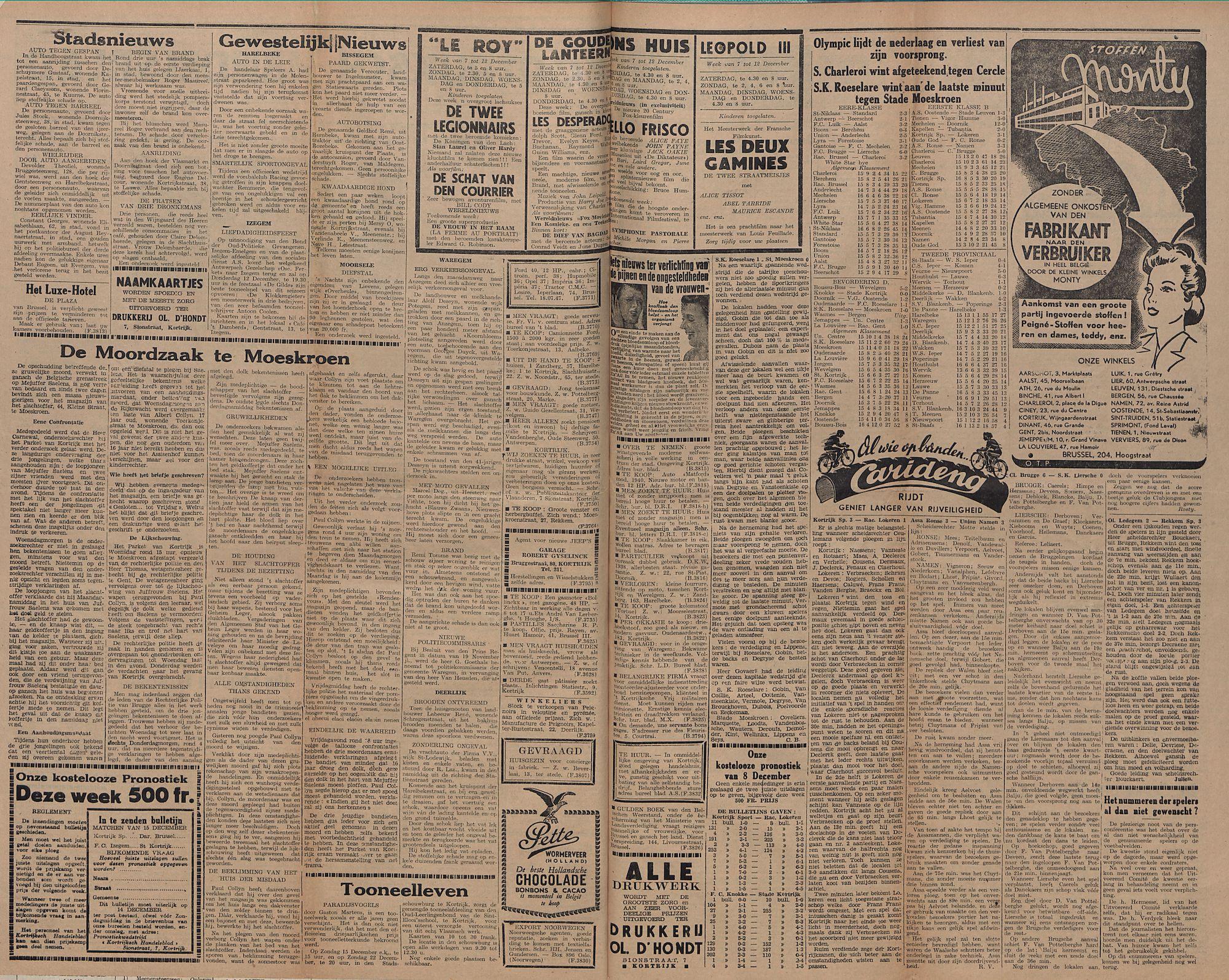 Kortrijksch Handelsblad 10 december 1946 Nr99 p2-3