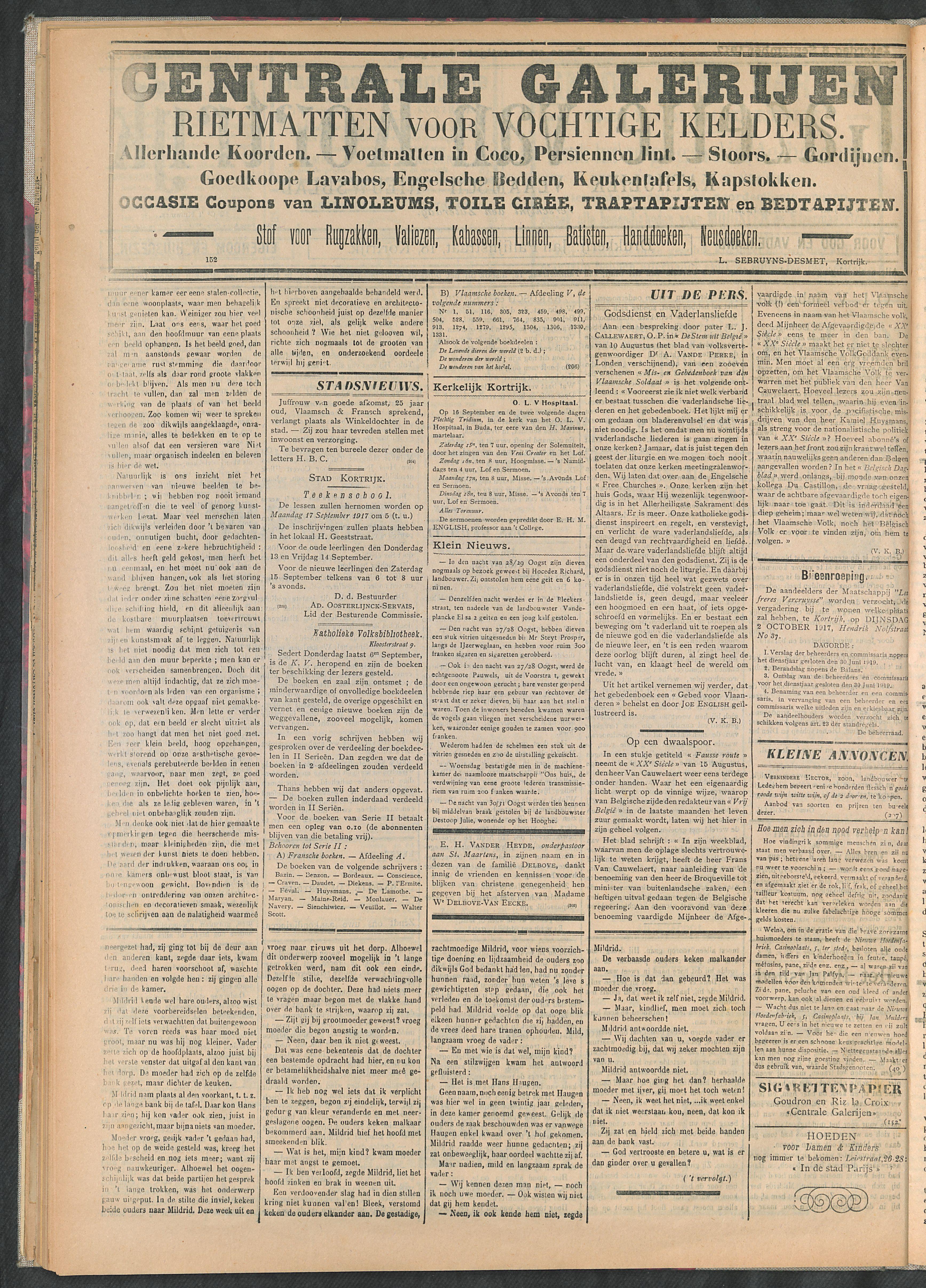 Gazette Van Kortrijk 1917-09-08 p2