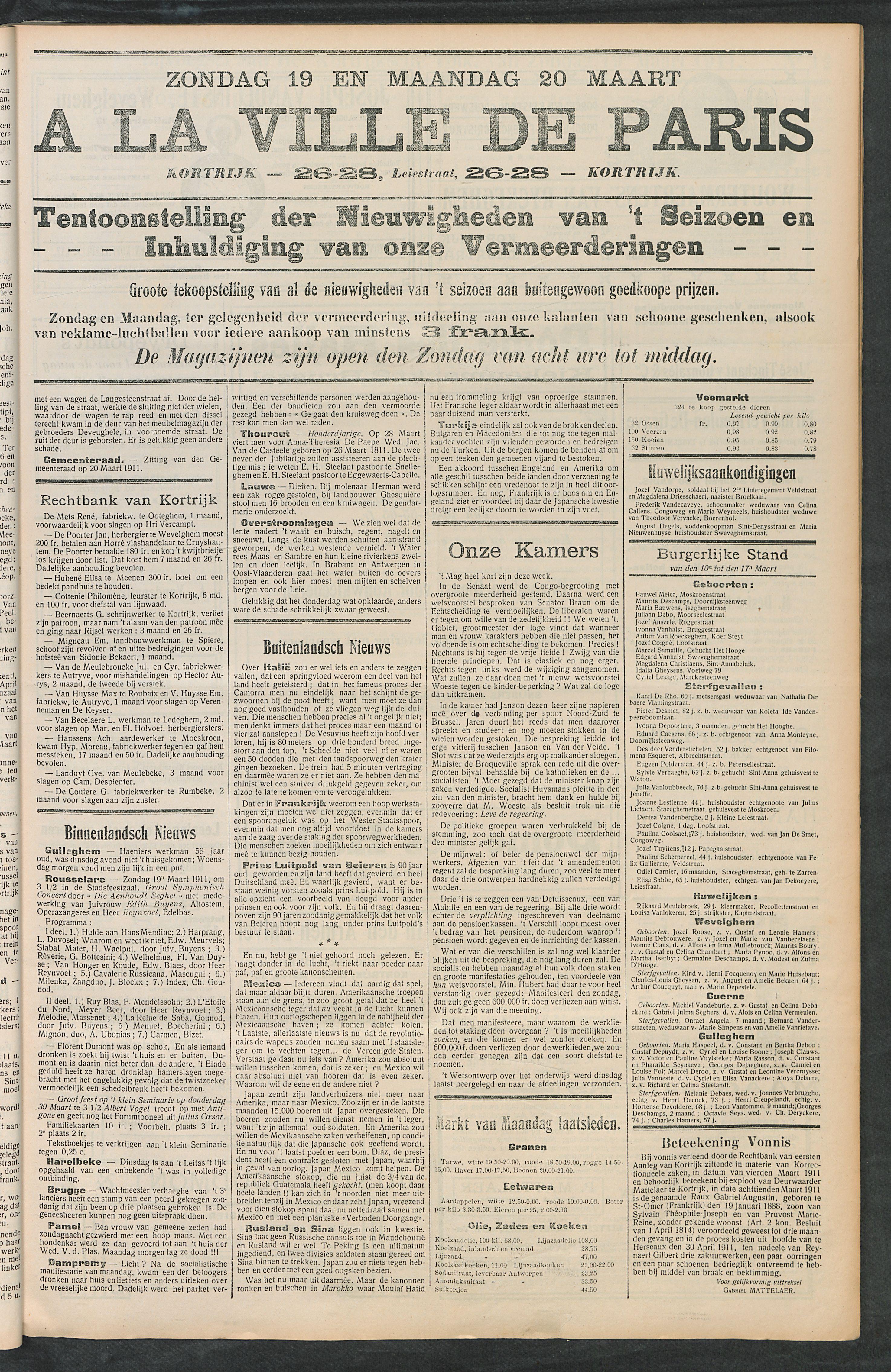 Het Kortrijksche Volk 1911-03-19 p3