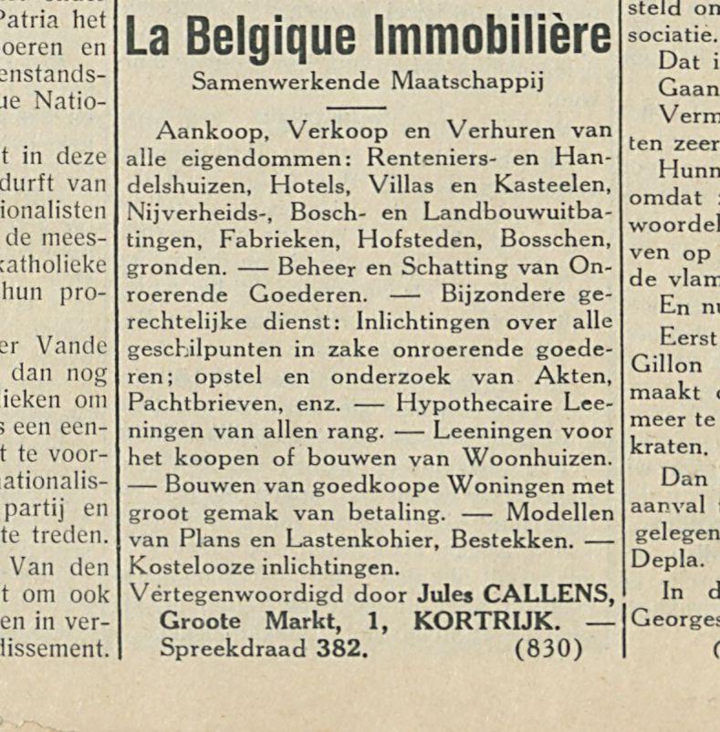 La Belgique Immobiliere