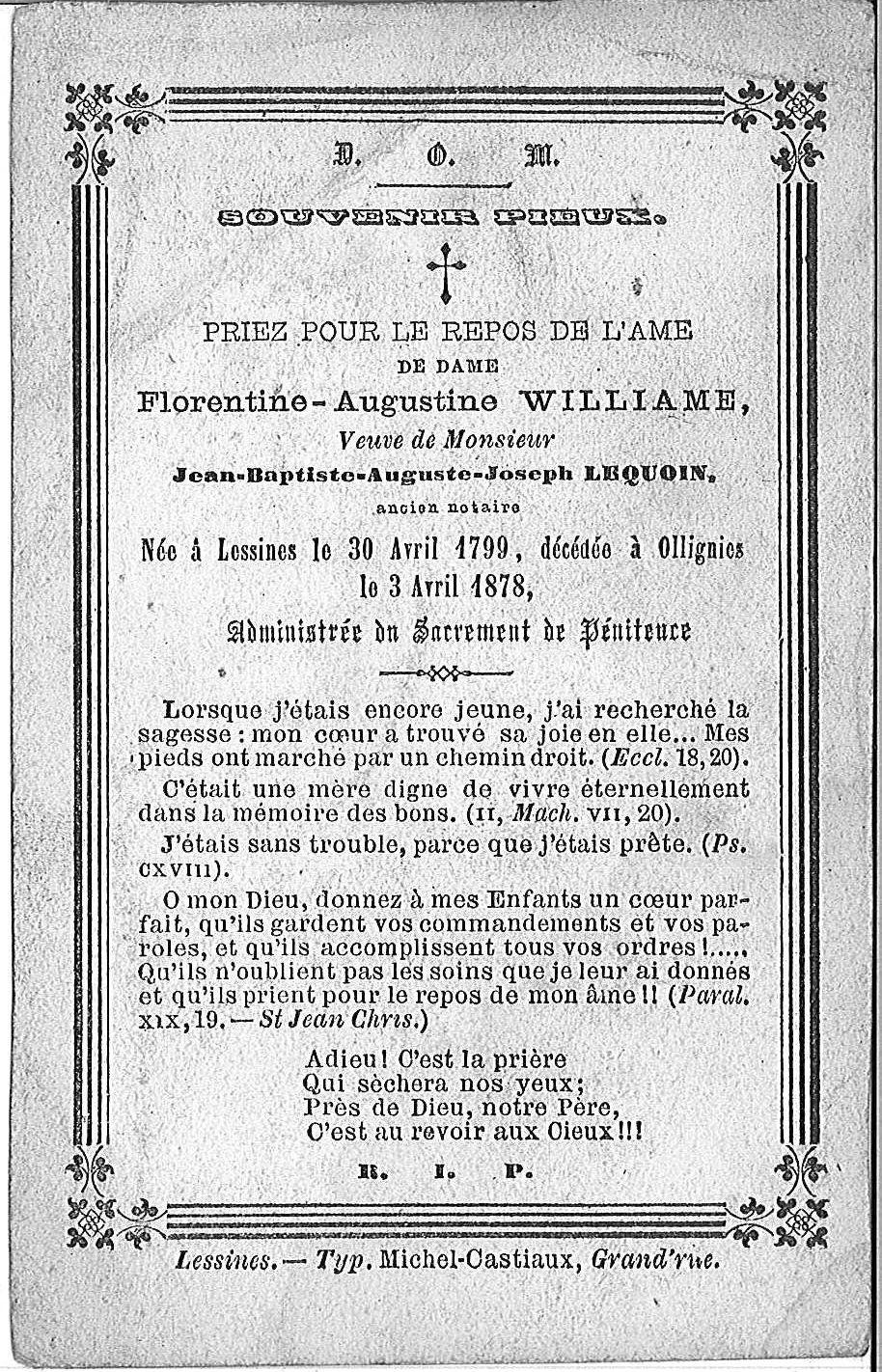 Florentine-Augustine Williame