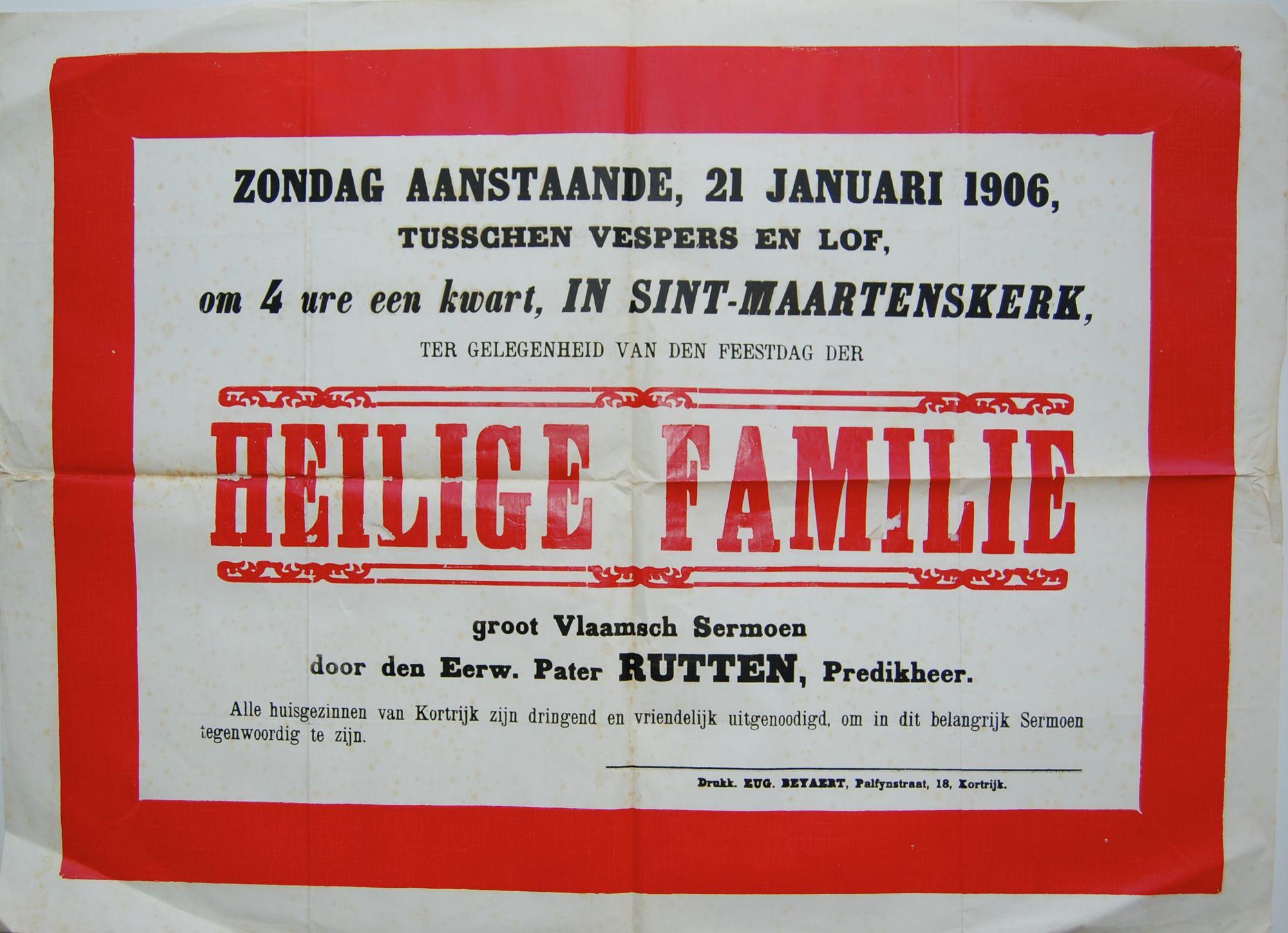 Plechtigheid Sint-Maartenskerk in 1906