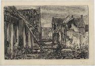 Westflandrica - Reninge, de verwoeste Sint-Rictrudiskerk