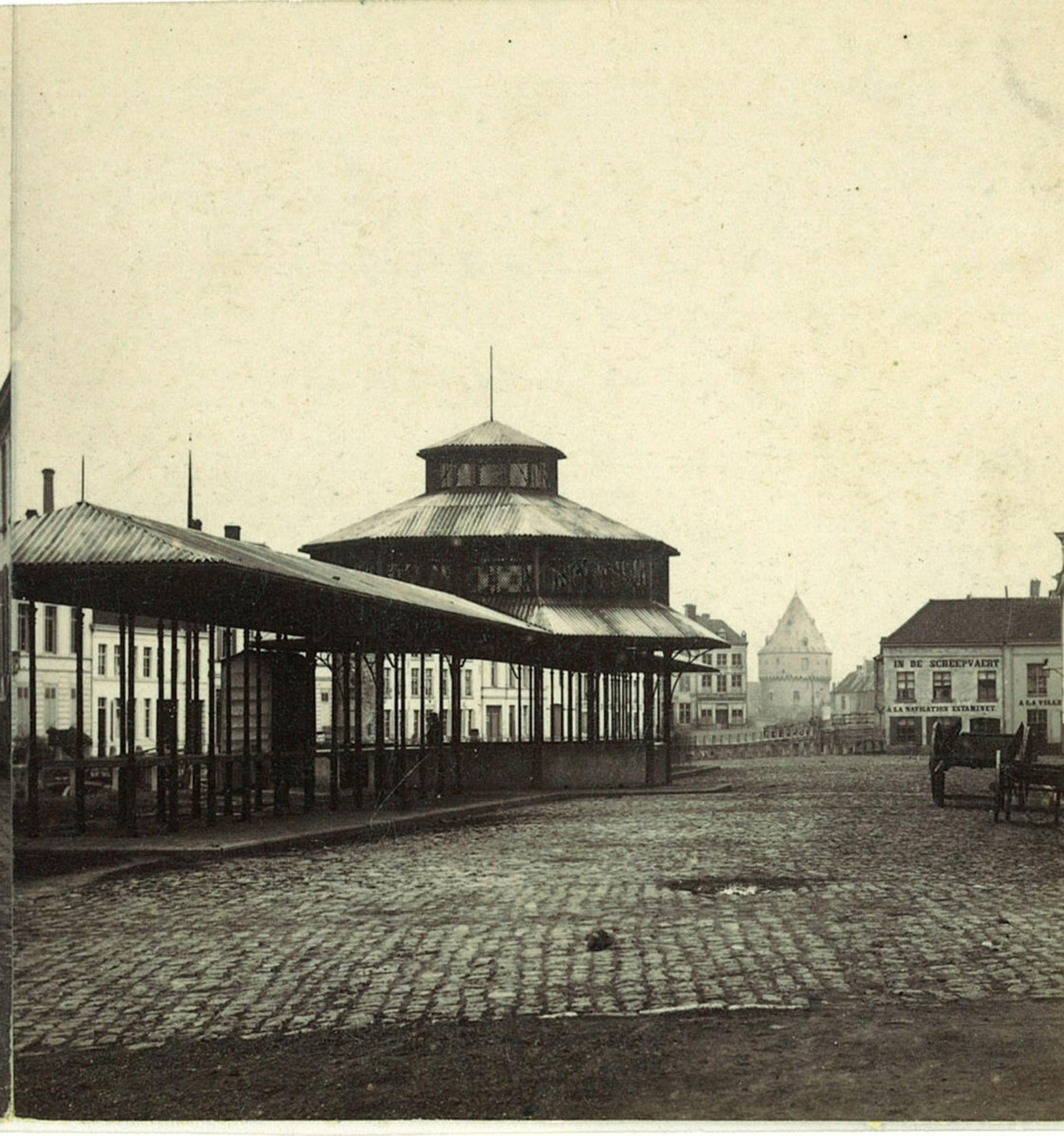 De vishalle op de Kasteelkaai