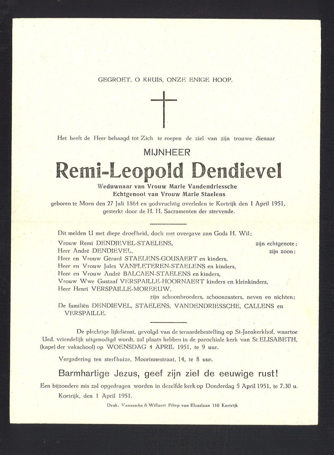 Dendievel Remi-Leopold