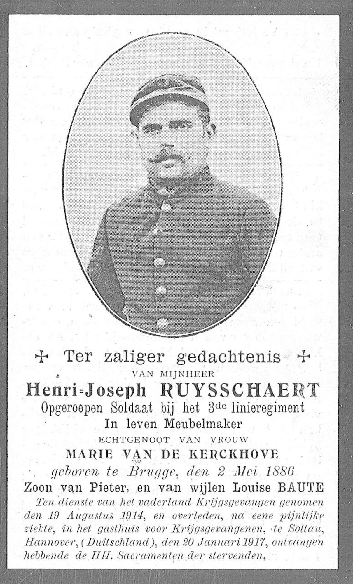 Ruysschaert Henri-Joseph