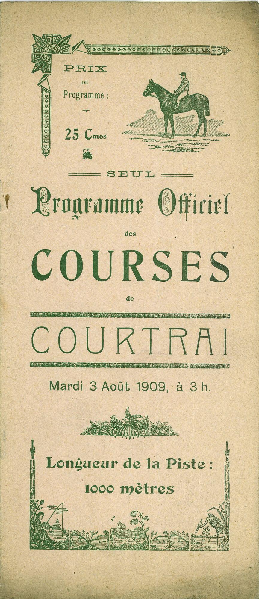 Programma paardenrennen 1909
