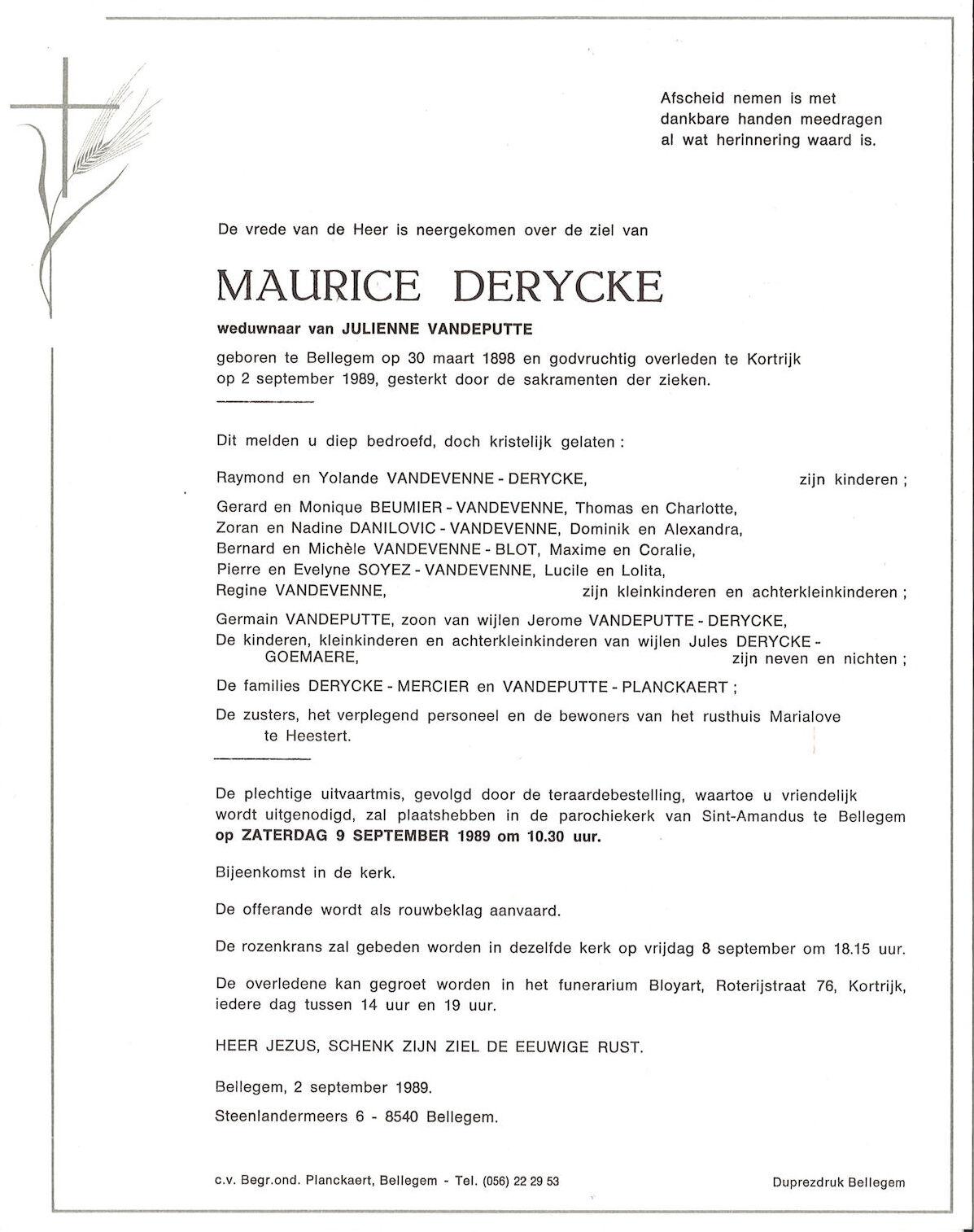 Maurice Derycke