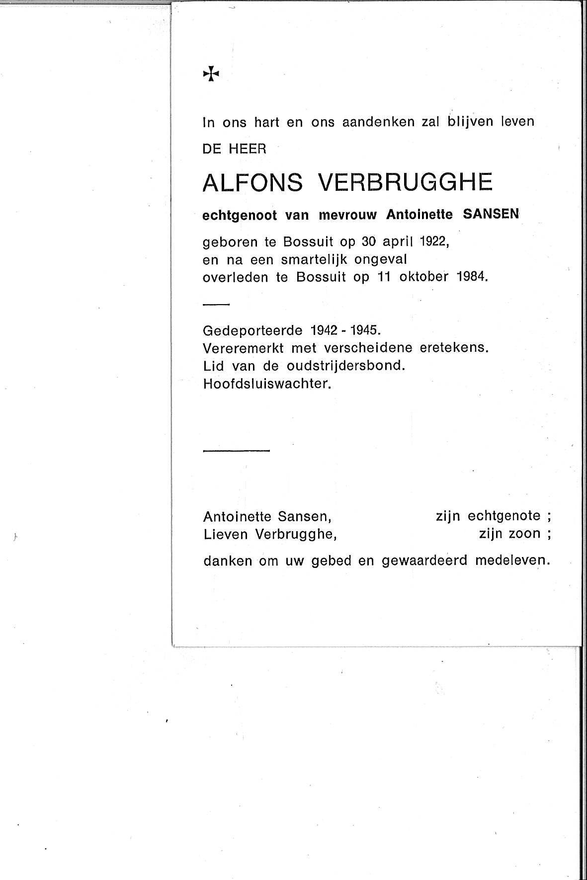 Verbrugghe Alfons