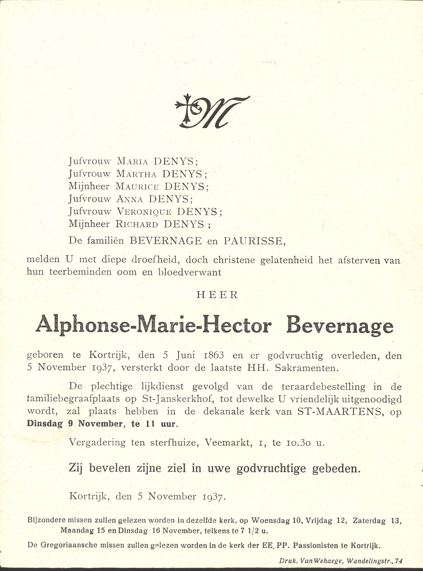 Alphonse-Marie-Hector Bevernage