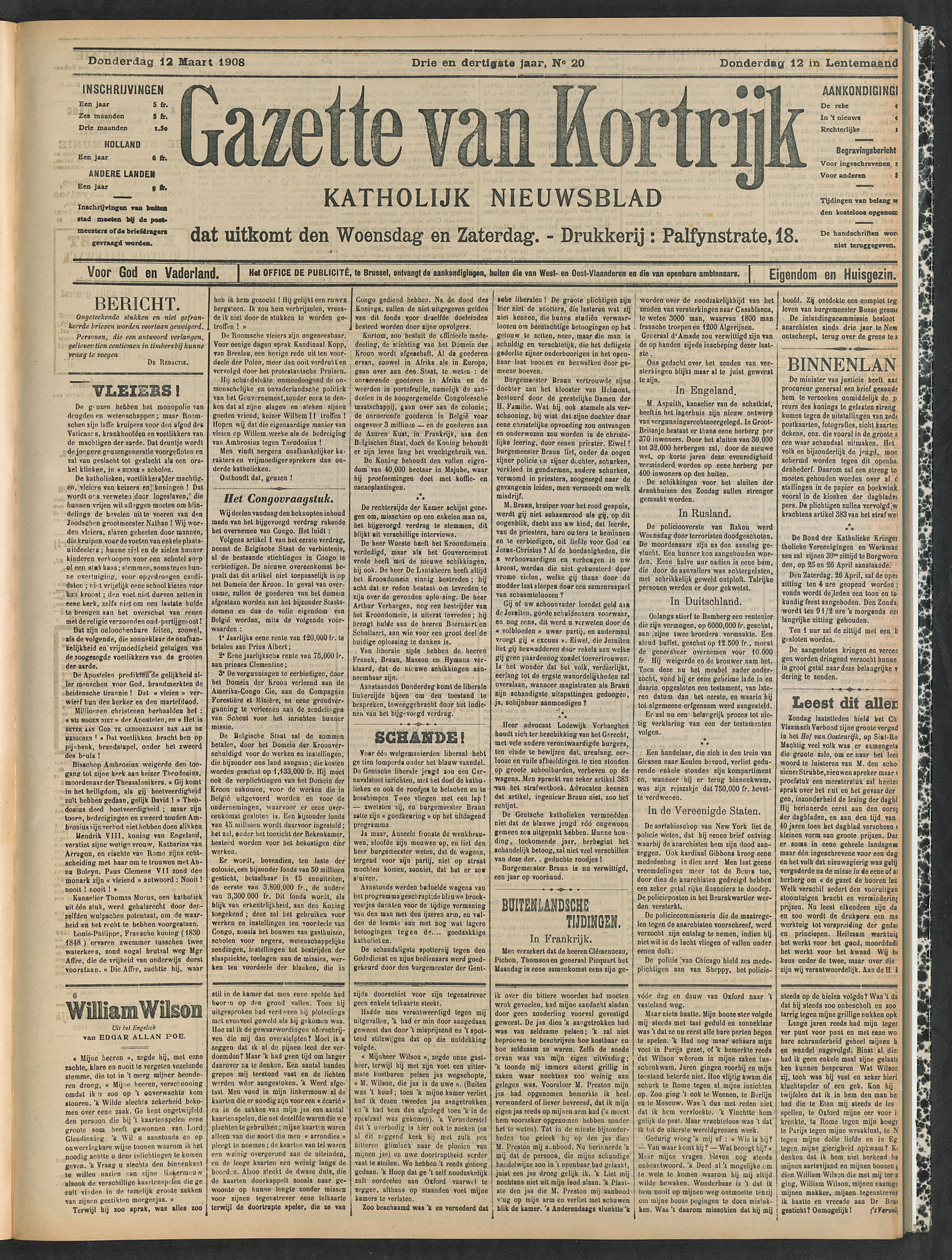 Gazette Van Kortrijk 1908-03-12 p1