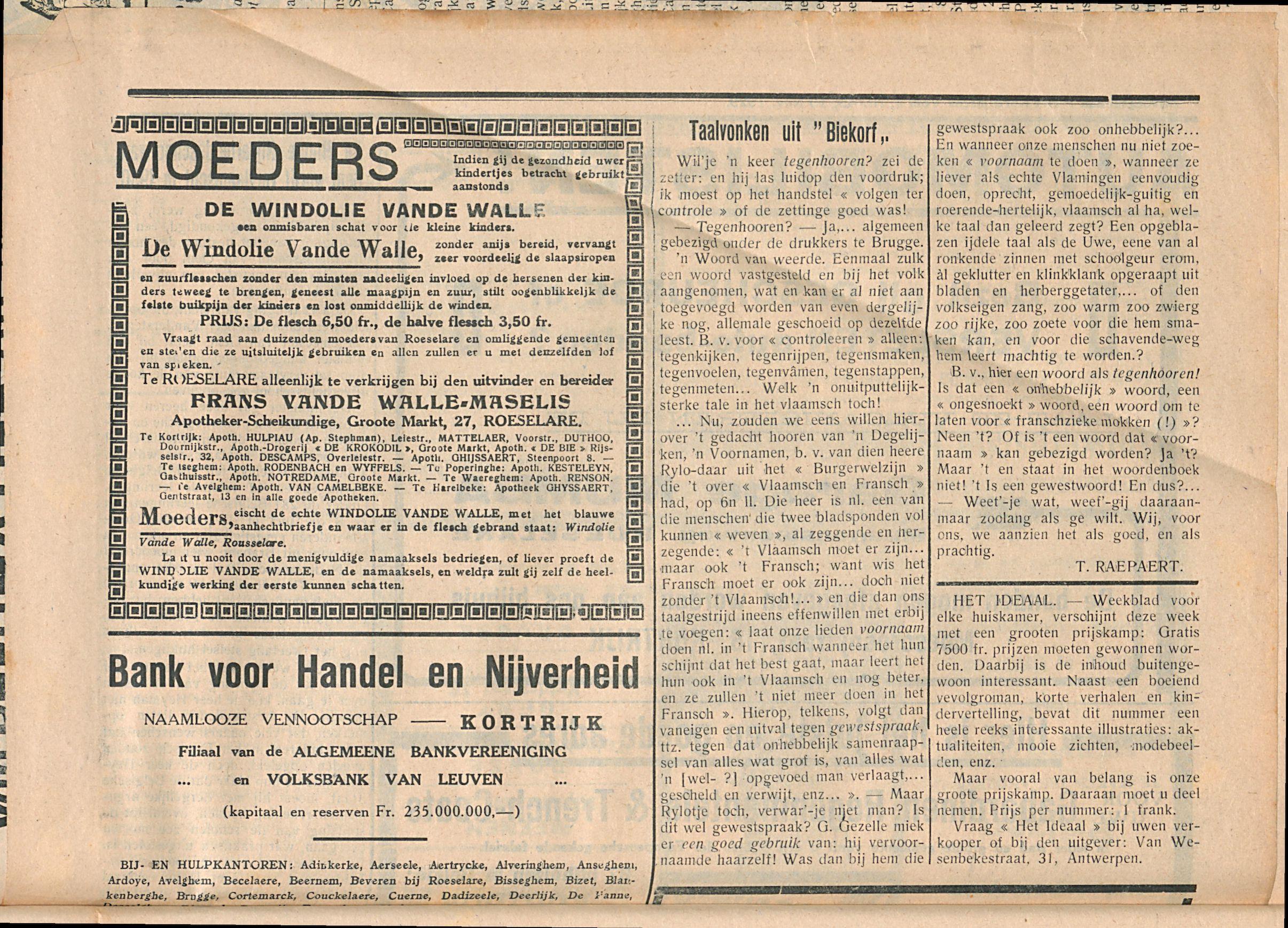 Het Kortrijksche Volk 1929-11-10 p3