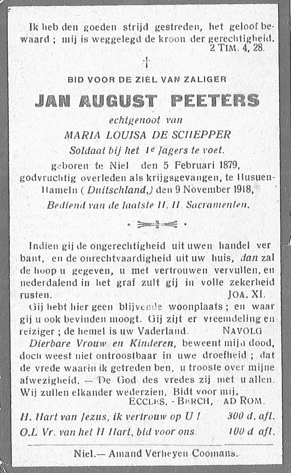 Peeters Jan August