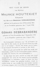 Maurice Houtekiet - Gérard Debrabandere