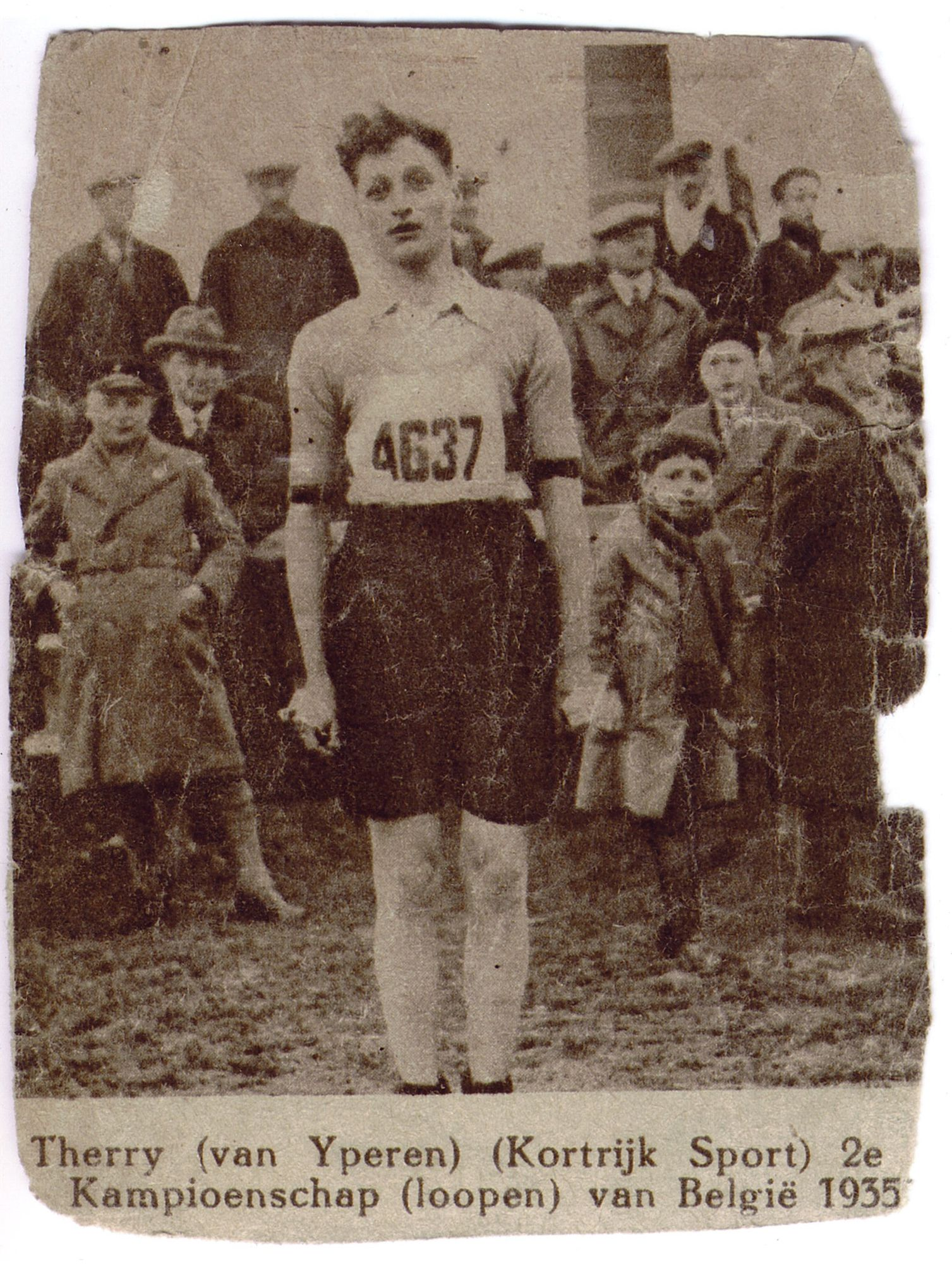 Julien Therry als atleet van atletiekclub Kortrijk Sport  in1935