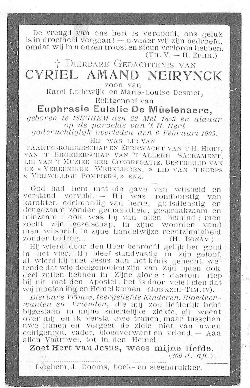 Cyriel-Amand Neirynck
