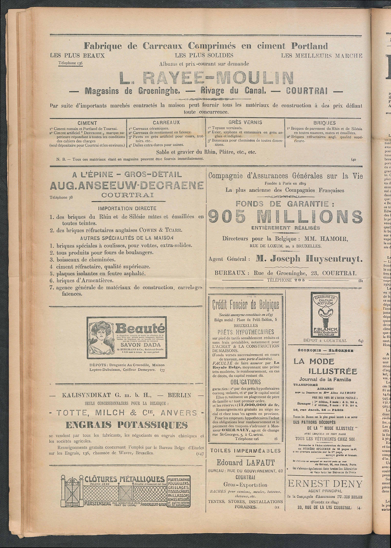 L'echo De Courtrai 1911-05-11 p4