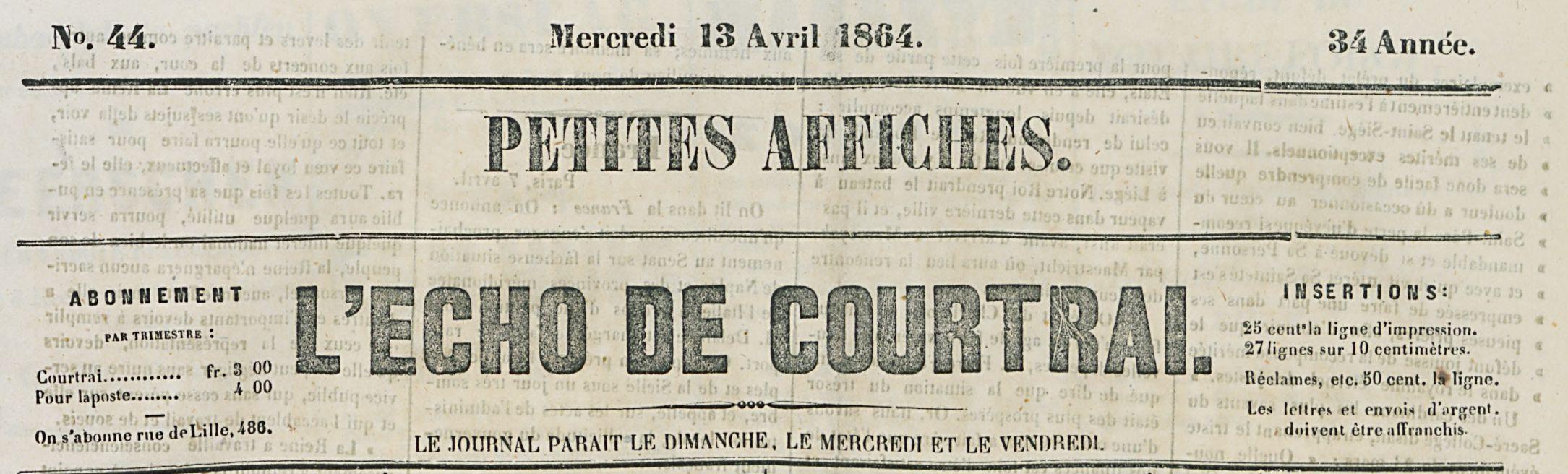 L'ECHO DE COURTRAI