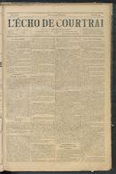 L'echo De Courtrai 1891-03-29