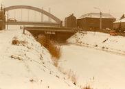 Het Kanaal Bossuit-Kortrijk te Zwevegem in de winter van 1985