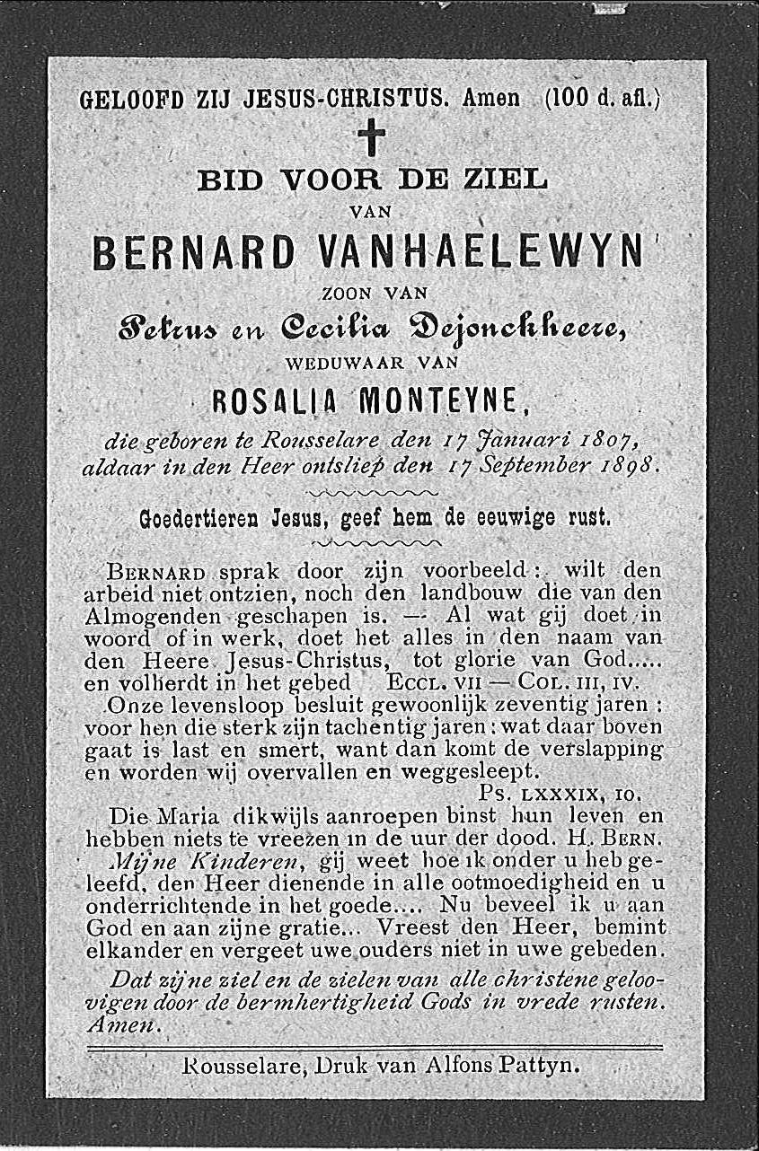 Bernard Vanhaelewyn.