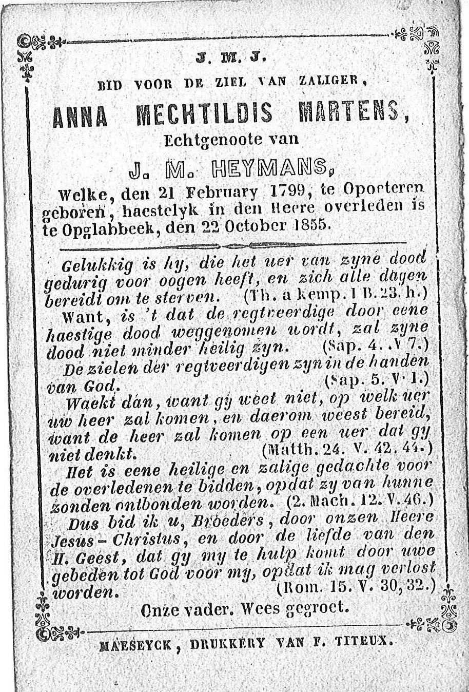 Anna Mechtildis Martens