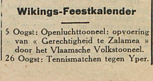 Wikings Feestkalender