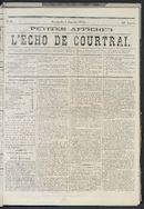 L'echo De Courtrai 1873-01-05 p1