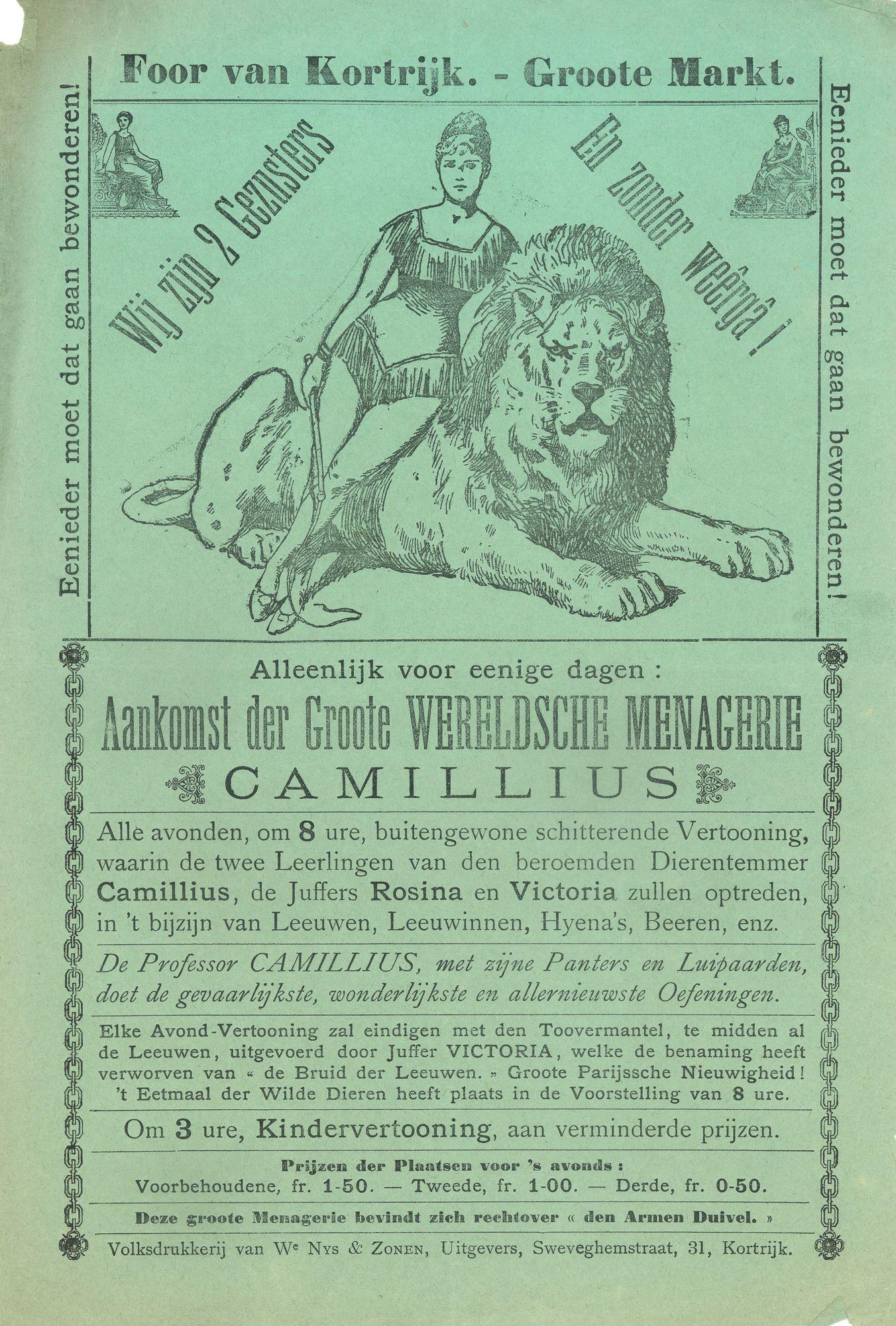 Paasfoor 1902: Menagerie Camillius