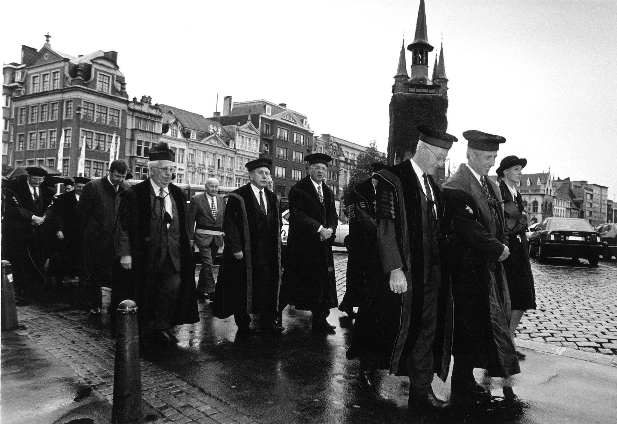 Stoet opening academisch jaar Kulak in 1997