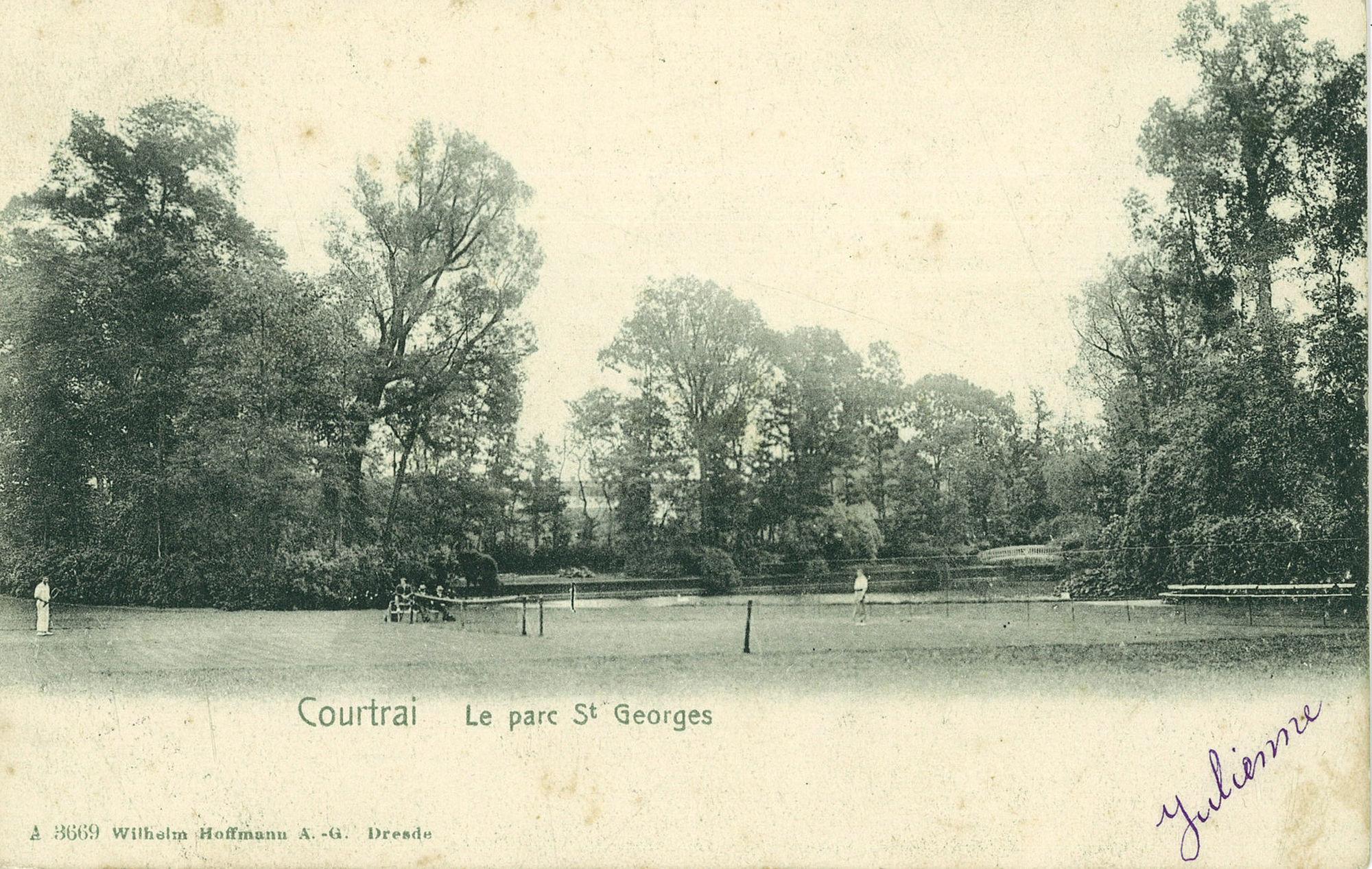 Tennis in het Sint-Jorispark