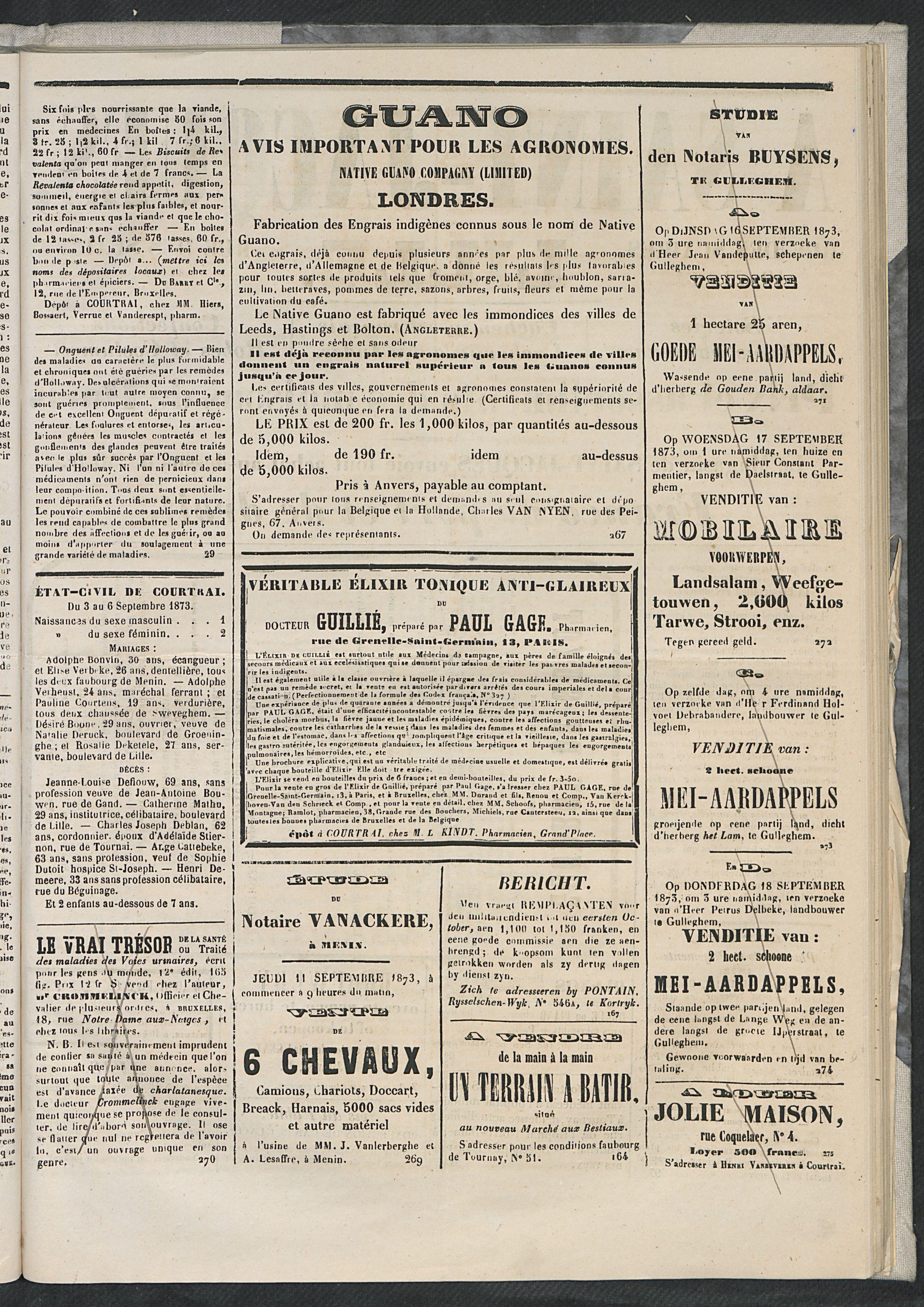 L'echo De Courtrai 1873-09-07 p3