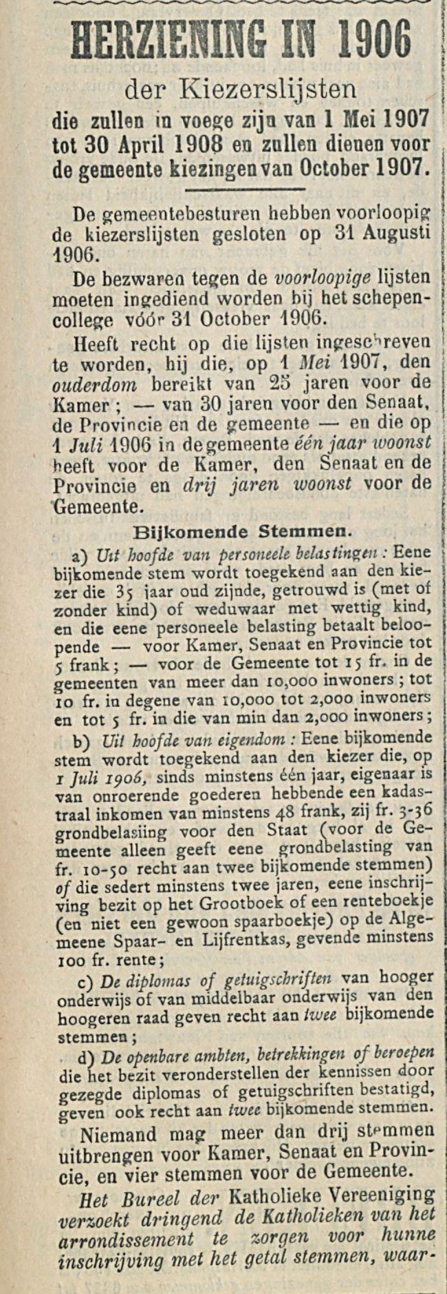 HERZIENING IN 1906