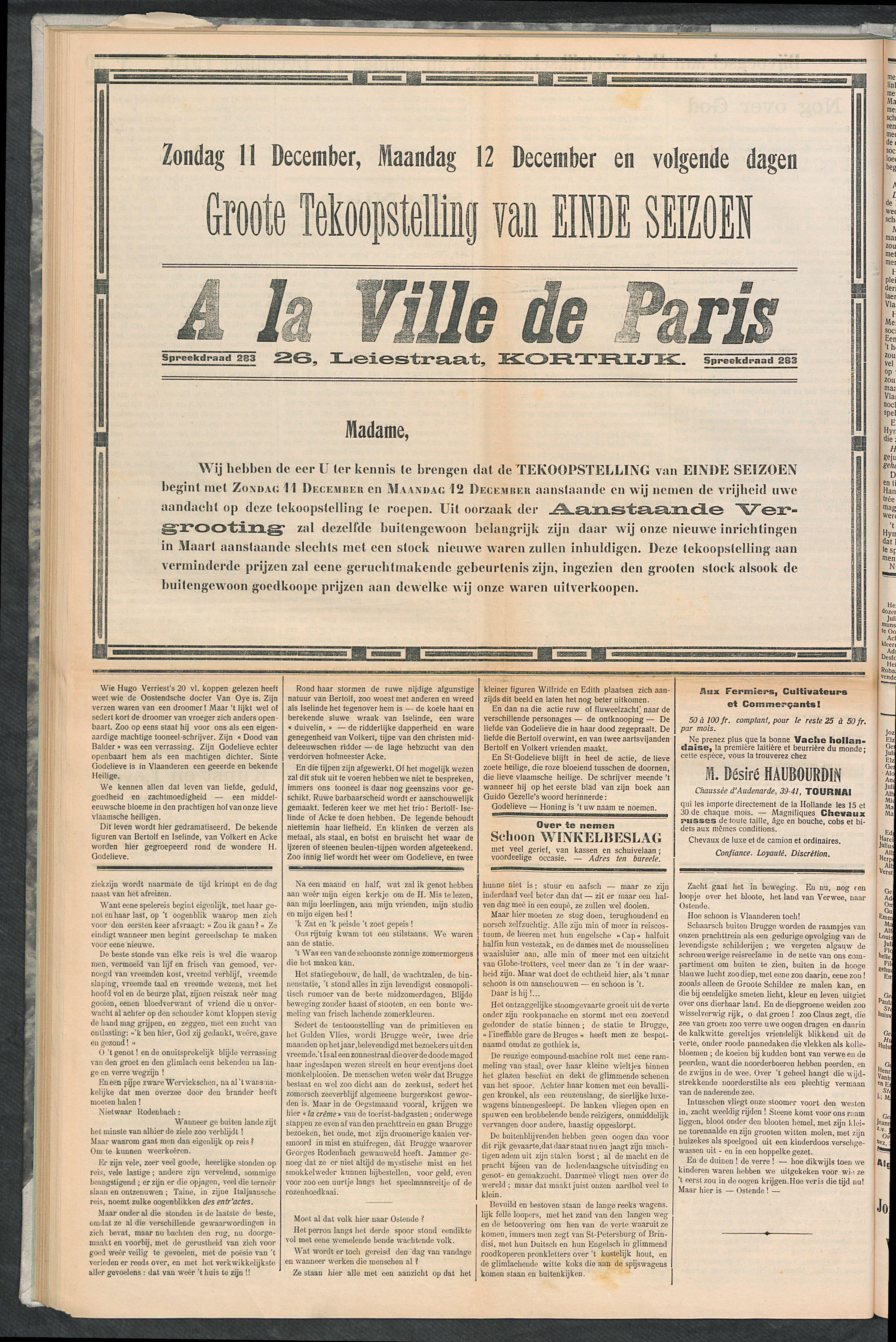 Het Kortrijksche Volk 1910-12-11 p4