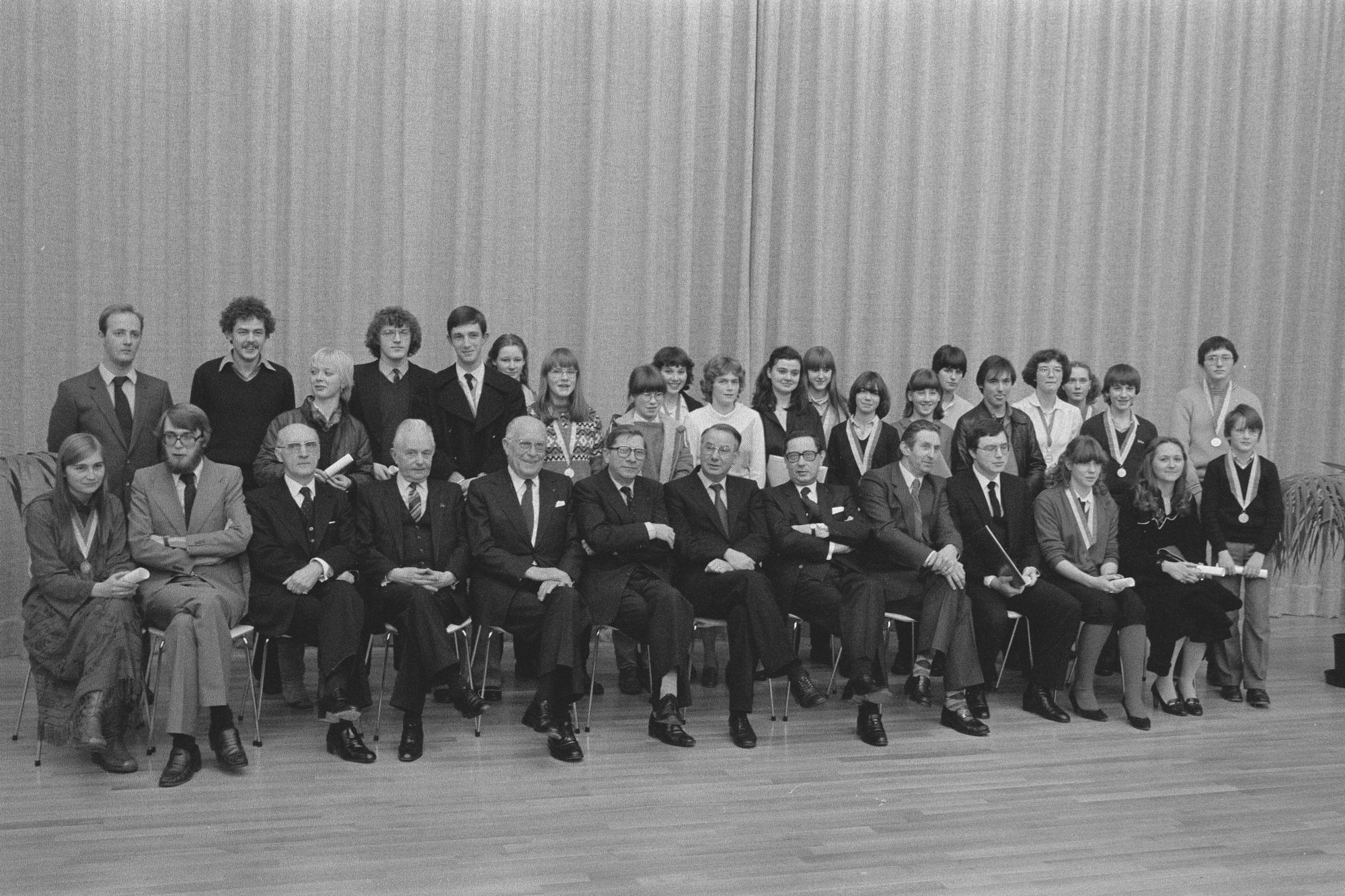 Laureaten van de muziekacademie gehuldigd