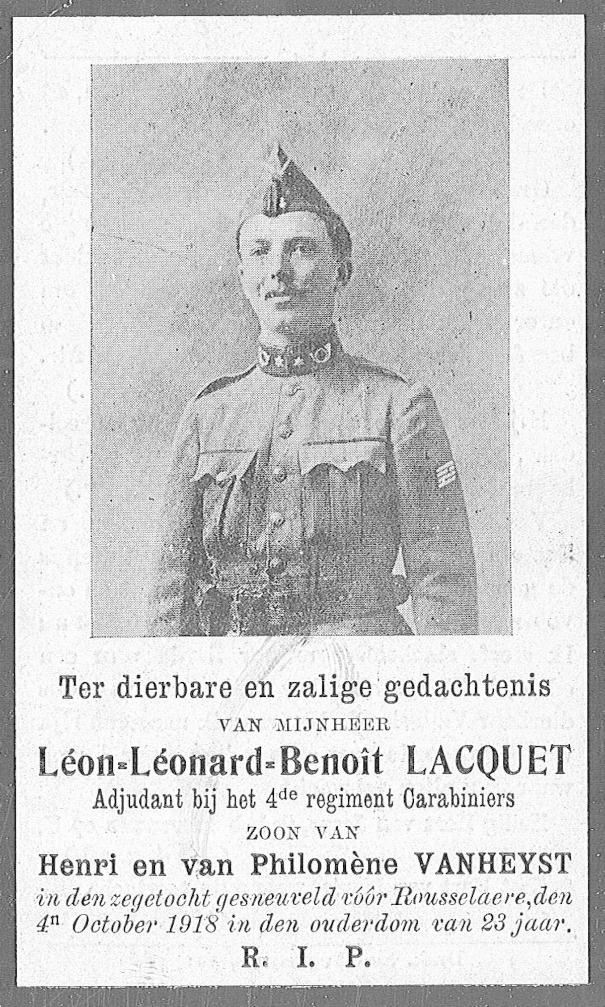 Lacquet Léon-Léonard-Benoit